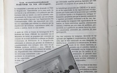Modelo comunitario de prevención de drogas para la ciudad de Iquique